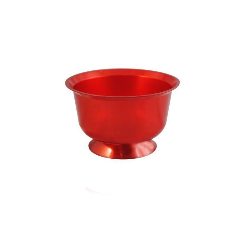 coupe à dessert plastique rouge