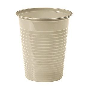 25 GOBELETS PLASTIQUES 20CL - TAUPE