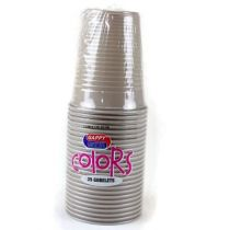25 GOBELETS PLASTIQUES TAUPE 20 CL