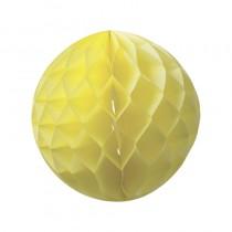 déco 3 boules jaunes avec alvéole 25, 20 et 15 cm