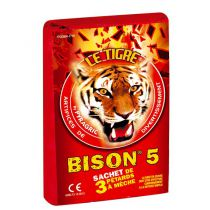 3 PÉTARDS LE TIGRE BISON N°5