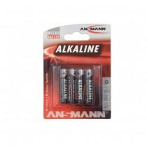4 PILES ALKALINE LR3 AAA ANSMANN