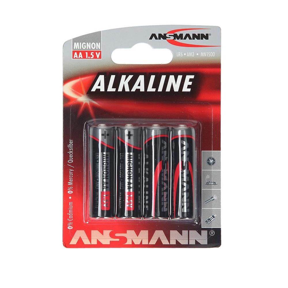 4 PILES ALKALINE LR6 AA ANSMANN