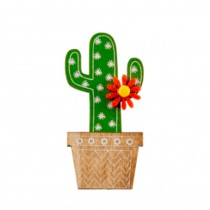 4 STICKERS POT CACTUS 3,6 X 5 CM