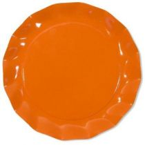 5 ASSIETTES ORANGE 32.4CM