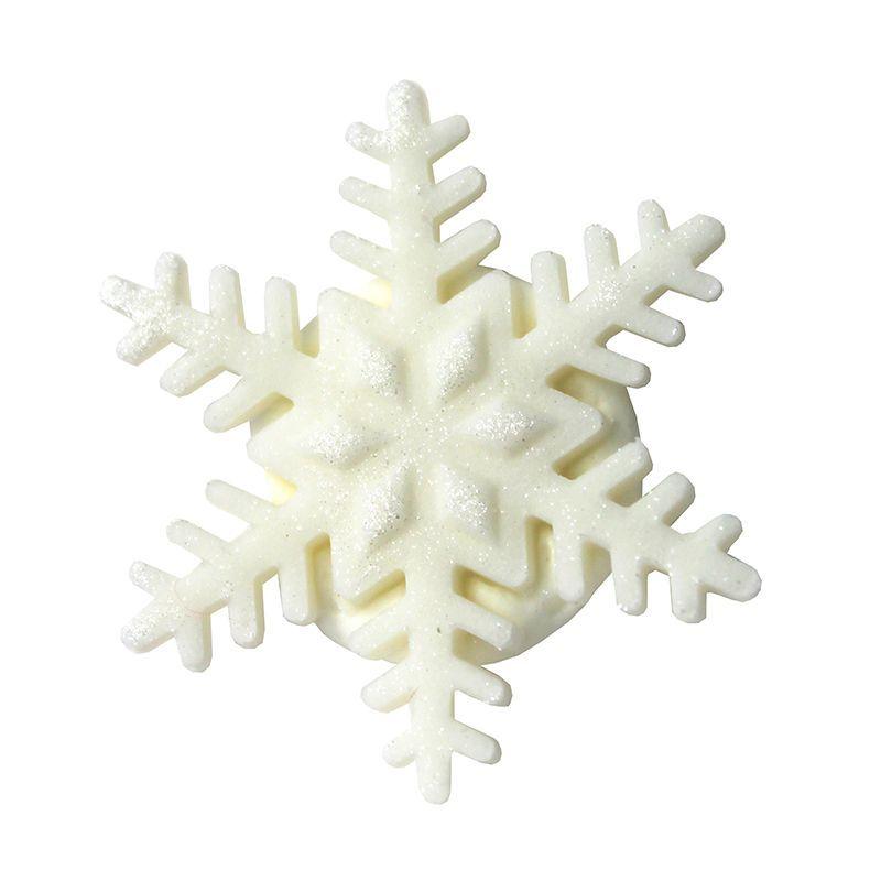 décor en sucre flocon de neige