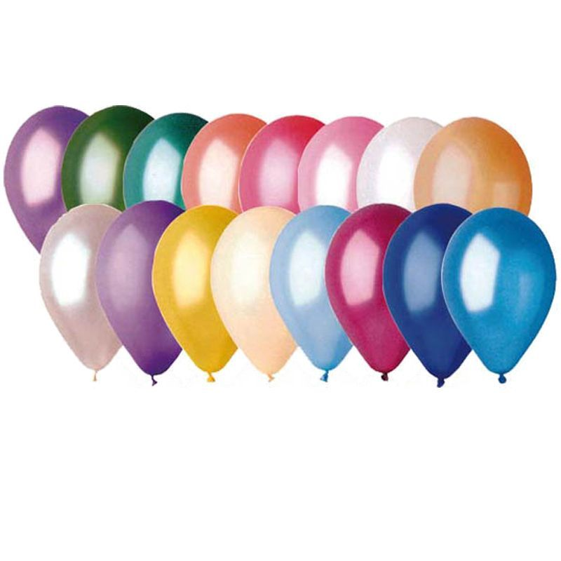 50 ballons en latex nacré multicolores pas cher