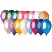 50 BALLONS LATEX NACRÉS MULTI 30 CM