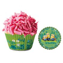 50 CAISSETTES CUPCAKES MINIONS