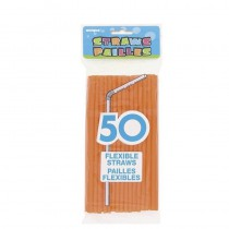 50 PAILLES FLEXIBLES ORANGE HALLOWEEN