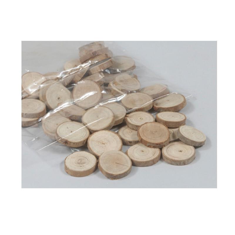 50 rondins de bois naturel de 3 5 cm. Black Bedroom Furniture Sets. Home Design Ideas