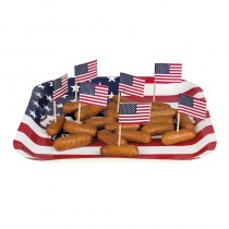 6 ASSIETTES AMERICAN PARTY 25 CM