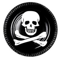 6 ASSIETTES PIRATE 23CM