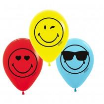6 BALLONS EN LATEX SMILEY EMOTICONES
