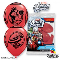6 BALLONS LATEX AVENGERS QUALATEX