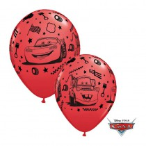 6 BALLONS LATEX CARS QUALATEX