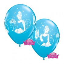 6 BALLONS LATEX CENDRILLON QUALATEX