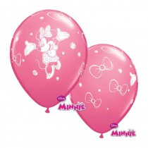 6 BALLONS LATEX MINNIE QUALATEX
