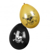 6 BALLONS LATEX PIRATES