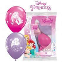 6 BALLONS LATEX PRINCESS QUALATEX