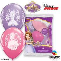 6 BALLONS LATEX SOFIA QUALATEX