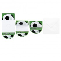 6 CARTES D\'INVITATION FOOTBALL