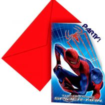 6 CARTES D'INVITATION SPIDERMAN WW