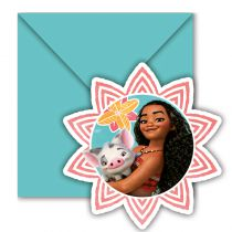6 CARTES D'INVITATION VAIANA ™