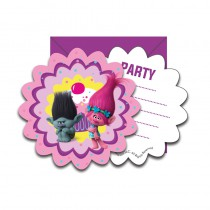 6 CARTES INVITATIONS TROLLS ™