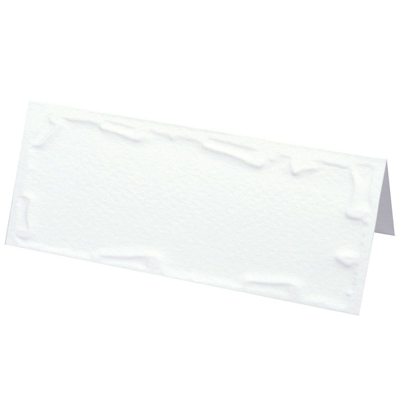 6 CARTES TABLE BLANC GAUFRÉES