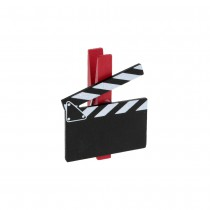 6 CLAPS HOLLYWOOD SUR PINCE ROUGE 5X5CM NOIR