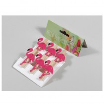 6 FLAMANTS CLIP 5CM FEUTRINE