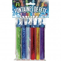 6 FONTAINES COULEURS ASSORTIES 95mm