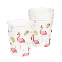 6 GOBELETS FLAMANTS ROSES 25 CL