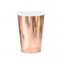 6 GOBELETS ROSE GOLD BRILLANT 220ML