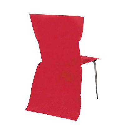 6 housses de chaise rouge 95 x 53 cm d co mariage pas cher. Black Bedroom Furniture Sets. Home Design Ideas