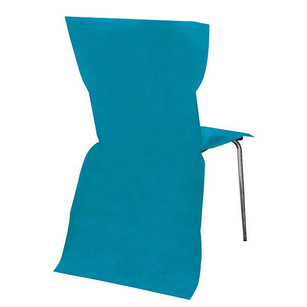 6 housses de chaise turquoise 95 x 53 cm d co mariage pas cher. Black Bedroom Furniture Sets. Home Design Ideas