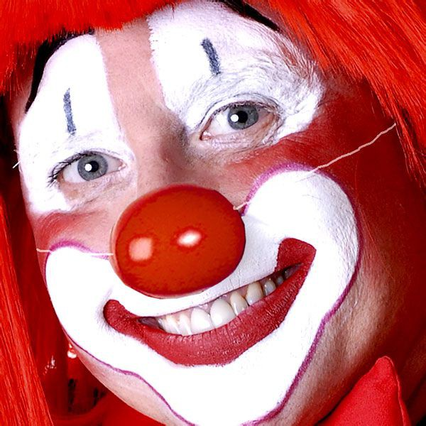 6 NEZ DE CLOWN EN PLASTIQUE