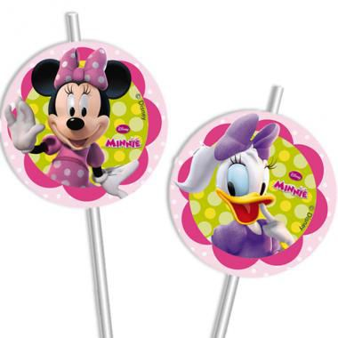 6 PAILLES FEXIBLES MINNIE BOW