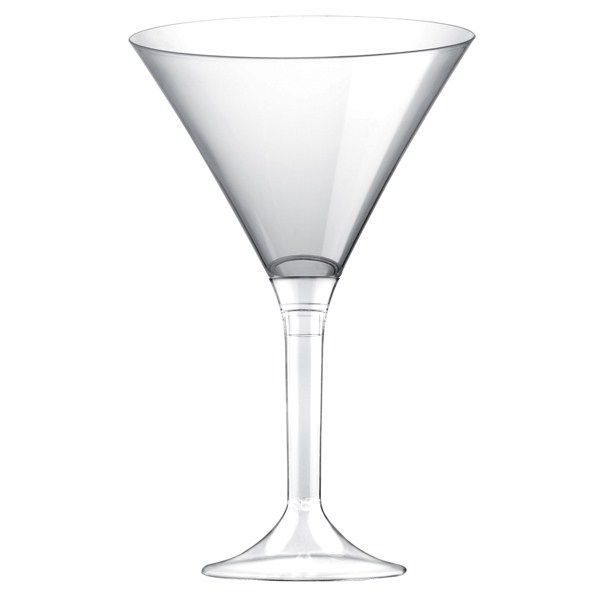 verre à martini plastique transparent