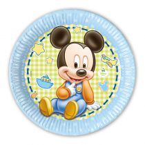 8 ASSIETTES 23 CM BABY MICKEY