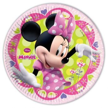 8 ASSIETTES 23 CM MINNIE BOW