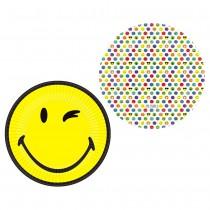 8 ASSIETTES 23 CM SMILEY EMOTICONES