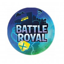 8 ASSIETTES CARTON 23CM BATTLE ROYAL