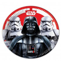 8 ASSIETTES CARTON 23CM STAR WARS FINAL BATTLE