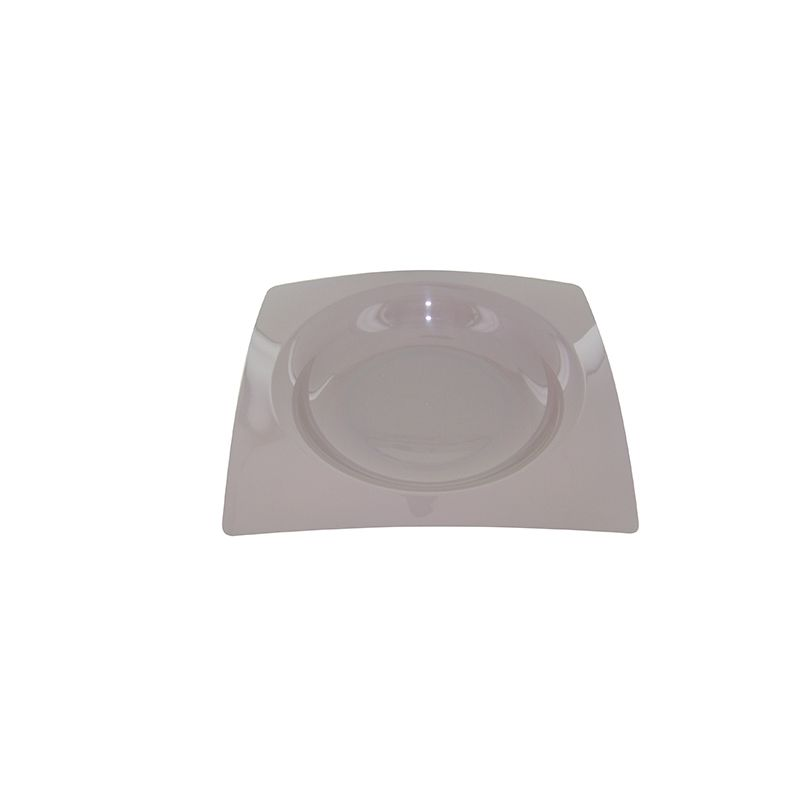 8 ASSIETTES FRENCHY DESIGN 20CM-TAUPE