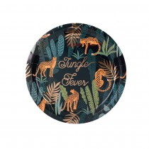 8 ASSIETTES JUNGLE FEVER 23CM