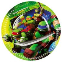 8 ASSIETTES TORTUES NINJA