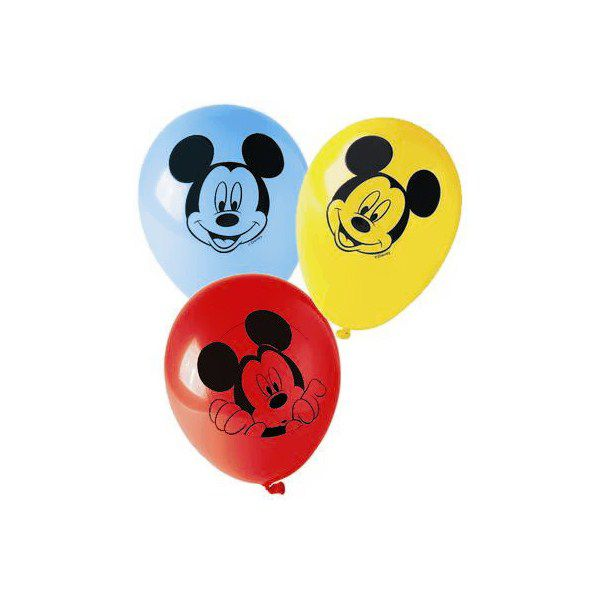 8 BALLONS 28CM MICKEY CLUBHOUSE