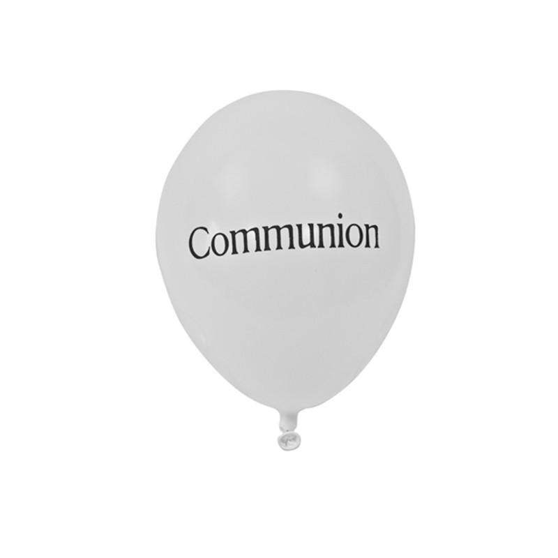 8 BALLONS IMPRIMÉS COMMUNION 28 CM